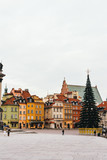 Christmas tree in Castle Square. Plac Zamkowy (Stare Miasto). Warsaw. winter - 225541690