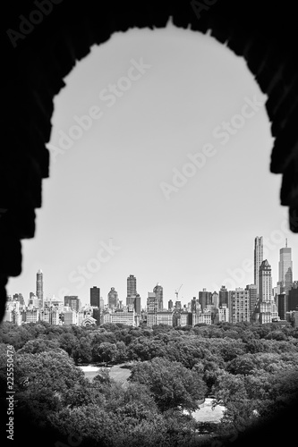Framed view of a Central Park in Midtown Manhattan, New York City, USA.