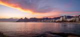 Panoramic view of Rio de Janeiro at sunset with purple light - Rio de Janeiro, Brazil