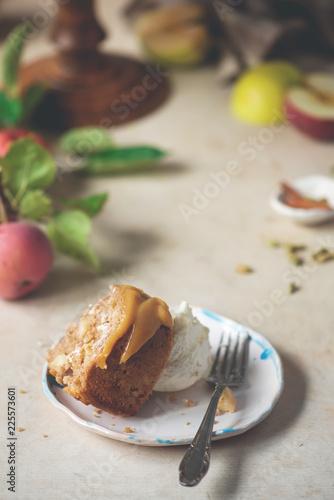 Cardamom Ed Whole Wheat Apple Cake And Honey Caramel