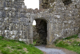 Arched stone doorway of an ancient castle ruins in County Laois, Ireland  - 225575087