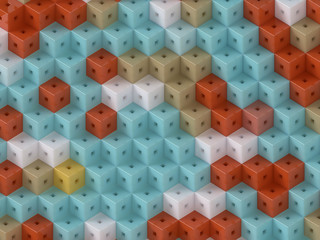 multicolour cubic pattern