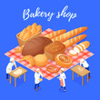 Bakery Shop Isometric Illustration