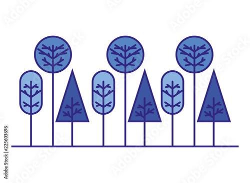 forest trees nature geometric shape - 225603696