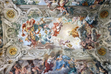 "Постер, картина, фотообои ""Painting on the ceiling of the Palazzo Barberini in Rome, Italy, with bees which are the symbol of the house"""