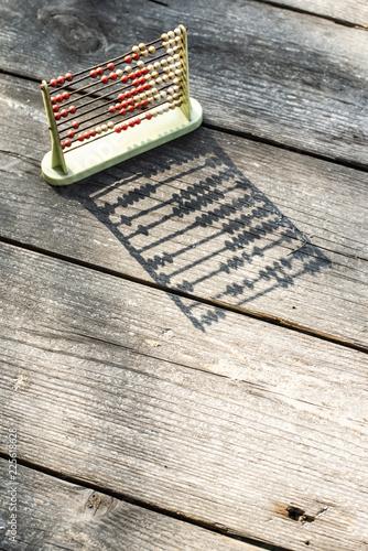 Vintage abacus. Backlight - 225618628