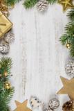 Christmas background-rustic stule