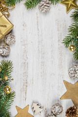 Christmas background-rustic stule © Natalia Klenova