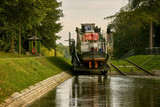 Ships in inland navigation on the Elbląg Canal, Poland - 225629493