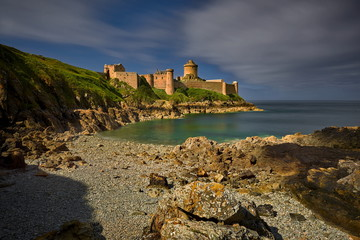 Brittany in France and Latte fort, a very well known tourist destination with a beautiful castle © janmiko