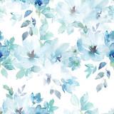 Watercolor seamless pattern. Floral print. Hand drawn watercolour illustration - 225630428