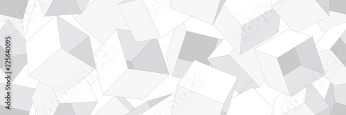 3D geometric background. Seamless pattern. Vector.3D幾何学パターン - 225640095