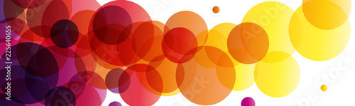 background and banner with balls of ink, vector abstract shape - 225640655