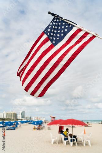 Fototapeten Strand South Beach Miami, Florida USa