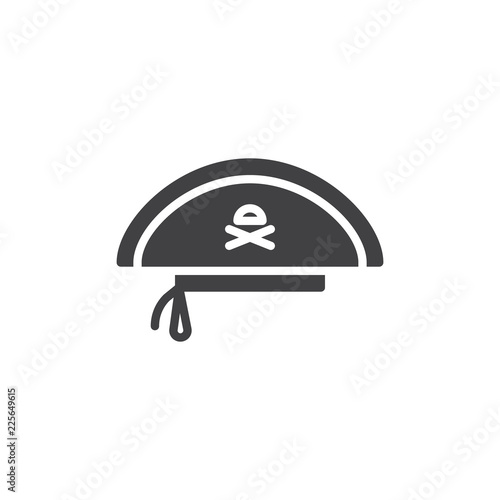 8bb3ea19 Pirate hat vector icon. filled flat sign for mobile concept and web design.  Costume