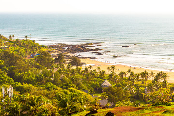 Evergreen natural beauty of Vagator beach from the top of Chapora Fort, Goa, India, Asia.  © Parvesh