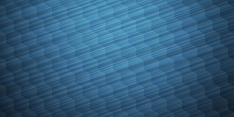 Blue hexagonal mosaic abstract background