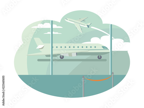 Airport Transportation Set Vector Illustration © robu_s