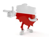 Poland character pointing finger