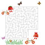 Funny maze game for Preschool Children. Illustration of logical education for children of preschool age. - 225681647