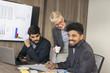 Business people brainstorming