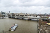 Overview of the Thames river in London, United Kingdom