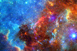 Nebula, stars and galaxy in deep space. Elements of this image furnished by NASA - 225702880