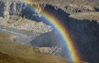 Rainbow in canyon