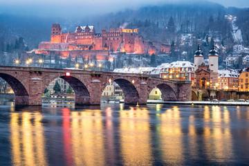 Heidelberg im Winter, Baden-Württemberg, Deutschland