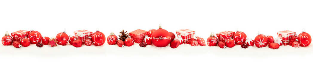 Merry Christmas Greeting Card panorama background