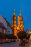 Wroclaw city at night, Poland