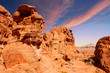 Red Rock Formations Under Blue Sky
