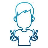 Cute and funny boy cartoon - 225774208