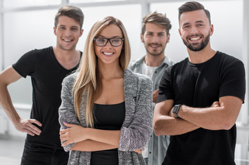 successful entrepreneurs stand together
