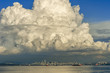 Large cumulus cloud over downtown Vancouver, British Columbia, Canada.