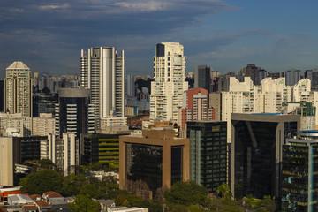 View at modern courtyard. Facade of modern building. Sao Paulo city, Brazil.  © Ranimiro