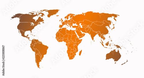 World map orange