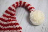Knit Christmas hat with pom pom - 225816023