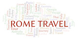 Rome Travel word cloud.