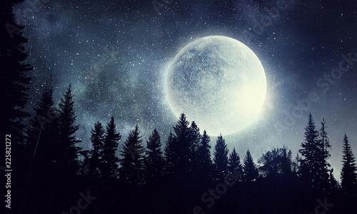 Full moon in sky