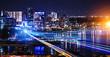 Leinwanddruck Bild - Big city never sleeps
