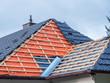 Leinwanddruck Bild - Dach Hausbau Dachdecker