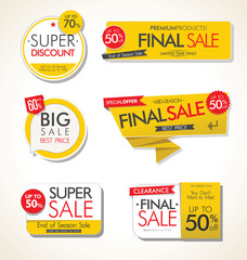 Modern sale banners and labels collection  © totallyout