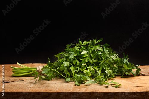 Foto Murales Perejil sobre tabla de madera
