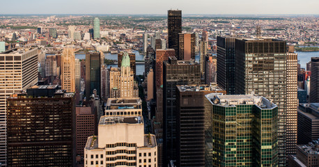 Aerial view of Manhattan, New York, USA, as seen from the Empire State Building