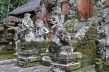 dragons in temple in bali indonesia