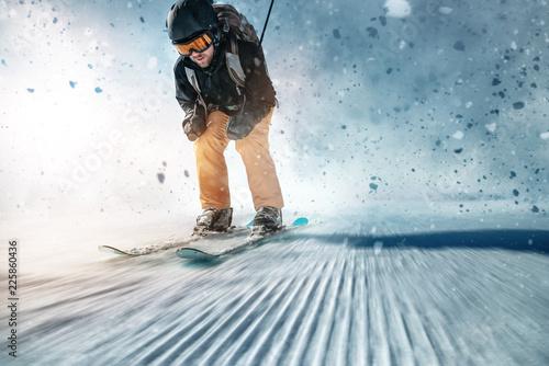 mata magnetyczna Skifahrer auf Piste