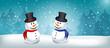 Leinwandbild Motiv Weihnachtsmotiv Schneemann