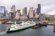 Aerial photo Ferry in Seattle