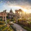 Quadro Forum Romanum in Rom, Italien